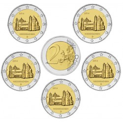 ALEMANIA 2 EUROS 2014 A+D+F+G+J IGLESIA DE SAN MIGUEL EN SAJONIA SC MONEDA CONMEMORATIVA Germany BRD