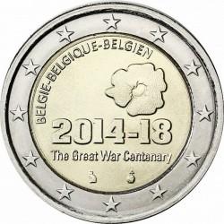 BELGICA 2 EUROS 2014 CENTENARIO DE LA 1ª GUERRA MUNDIAL SC MONEDA CONMEMORATIVA Belgium Belgique