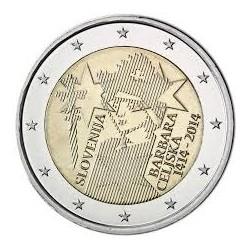 2€ EUROS 2014 ESLOVENIA BARBARA CELJSKA MONEDA SIN CIRCULAR
