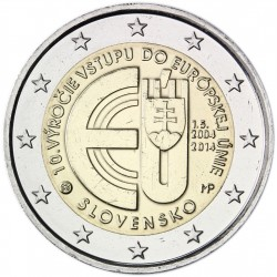 .ESLOVAQUIA 2€ EUROS 2014 ENTRADA EN LA UE SC SLOVAKIA