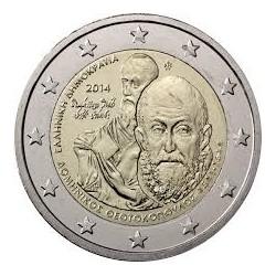 GRECIA 2€ EUROS 2014 MUERTE DE DOMENIKOS THEOTOKOPOULOS SC