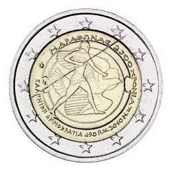 GREECE 2 EUROS 2010 OLYMPIC ATHENS UNC BIMETALLIC