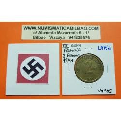 FRANCIA 2 FRANCOS 1944 PHILADELPHIA LATON III REICH NAZI KM*905