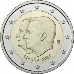 ESPAÑA 2 EUROS 2014 CORONACION DEL REY FELIPE VI SC MONEDA CONMEMORATIVA