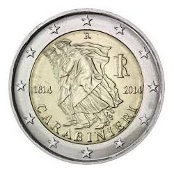 ..2€ EUROS 2014 ITALIA CARABINIERI SIN CIRCULAR