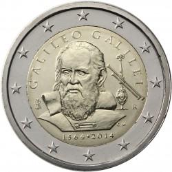ITALIA 2 EUROS 2014 GALILEO GALILEI 450 AÑOS DE SU NACIMIENTO SC MONEDA CONMEMORATIVA Italy