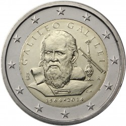 ITALIA 2€ EUROS 2014 GALILEO GALILEI MONEDA SIN CIRCULAR