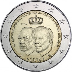 LUXEMBURGO 2€ EUROS 2014 ASCENSION AL TRONO MONEDA SIN CIRCULAR