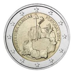2€ EUROS 2014 PORTUGAL AGRICULTURA FAMILIAR SIN CIRCULAR