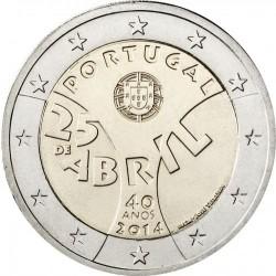 PORTUGAL 2 EUROS 2014 REVOLUCION DEL 25 DE ABRIL 40 ANIVERSARIO SC MONEDA CONMEMORATIVA