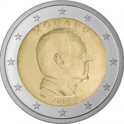 2€ EUROS 2014 MONACO REY ALBERTO I SIN CIRCULAR @RARA@