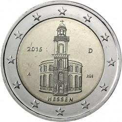 ALEMANIA 2 EUROS 2015 IGLESIA DE SAN PABLO EN HESSEN SC MONEDA CONMEMORATIVA Germany