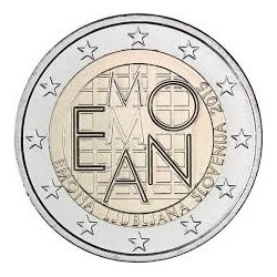 . 2 EUROS 2015 ESLOVENIA CIUDAD DE EMONA SC MONEDA COIN