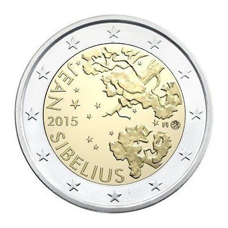 FINLANDIA 2 EUROS 2015 MUSICO JEAN SIBELIUS SC MONEDA CONMEMORATIVA Finnland