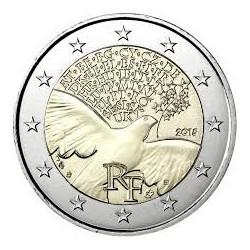 . 2 EUROS 2015 FRANCIA 70 AÑOS DE PAZ SC Moneda Coin