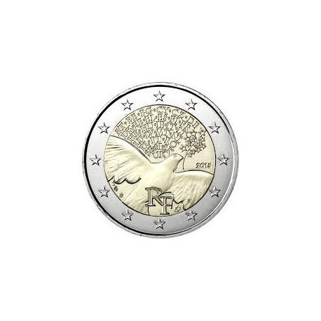 FRANCIA 2 EUROS 2015 PALOMA 70 AÑOS DE PAZ SC MONEDA CONMEMORATIVA France