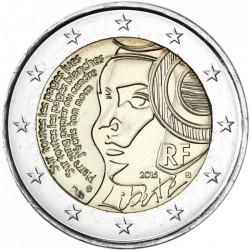 FRANCIA 2 EUROS 2015 DAMA 225 AÑOS DE LA FEDERACION SC MONEDA CONMEMORATIVA France