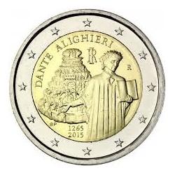 . 2 EUROS 2015 ITALIA DANTE ALIGHIERI SC MONEDA CONMEMORATIVA