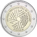 LETONIA 2 EUROS 2015 PRESIDENCIA DE EUROPA SC MONEDA CONMEMORATIVA Latvia