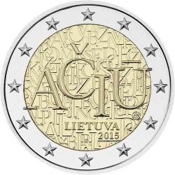 . 2 EUROS 2015 LITUANIA IDIOMA LITUANO SC Moneda Coin Lietuva