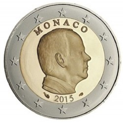 MONACO 2 EUROS 2015 REY ALBERTO I SC MONEDA NO CONMEMORATIVA Tipo CIRCULANTE