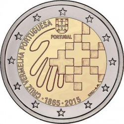 PORTUGAL 2 EUROS 2015 CRUZ ROJA PORTUGUESA 150 ANIVERSARIO SC MONEDA CONMEMORATIVA