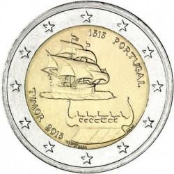 PORTUGAL 2 EUROS 2015 BARCO 500 AÑOS DE RELACIONES CON TIMOR SC MONEDA CONMEMORATIVA
