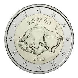 . 2 EUROS 2015 ESPAÑA CUEVAS DE ALTAMIRA SC MONEDA BIMETALICA