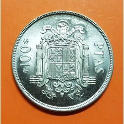 ESPAÑA 100 PESETAS 1975 * 19 76 ESCUDO DE JUAN CARLOS I KM.810 MONEDA DE NICKEL SC SIN CIRCULAR