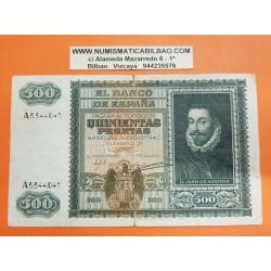 ESPAÑA 500 PESETAS 1940 DON JUAN DE AUSTRIA y BARCO Serie A 3344041 Pick 119 @BILLETE RARO@ Spain