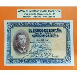 ESPAÑA 25 PESETAS 1926 SAN FRANCISCO JAVIER Serie B 9210641 Pick 71 BILLETE MBC++ @RARO@ Spain banknote