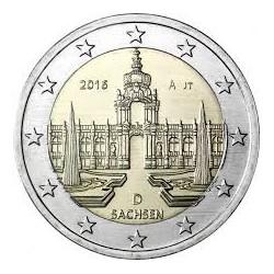 ALEMANIA 2 EUROS 2016 IGLESIA DE SAJONIA SACHSEN SC MONEDA CONMEMORATIVA COIN GERMANY
