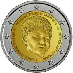 BELGICA 2 EUROS 2016 FUNDACION CHILD FOCUS NIÑOS @RARA@ SC MONEDA CONMEMORATIVA BELGIUM COIN