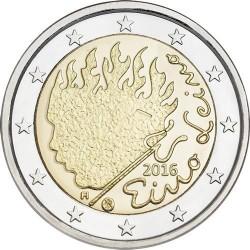 FINLANDIA 2 EUROS 2016 ESCRITOR EINO LEINO SC MONEDA CONMEMORATIVA COIN