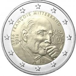 FRANCIA 2 EUROS 2016 EX PRESIDENTE FRANCOIS MITTERRAND SC MONEDA CONMEMORATIVA COIN FRANCE