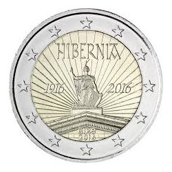IRLANDA 2 EUROS 2016 HIBERNIA 100 AÑOS DEL ALZAMIENTO DE PASCUA SC MONEDA CONMEMORATIVA COIN EIRE