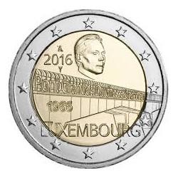 LUXEMBURGO 2 EUROS 2016 50 AÑOS DEL PUENTE DE LA GRAN DUQUESA CARLOTA SC MONEDA CONMEMORATIVA COIN LUXEMBOURG