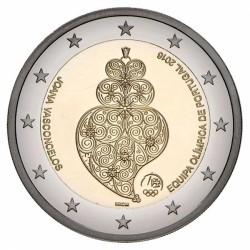PORTUGAL 2 EUROS 2016 PARTICIPACION DEL EQUIPO PARA LA OLIMPIADA DE RIO EN BRASIL SC MONEDA CONMEMORATIVA COIN