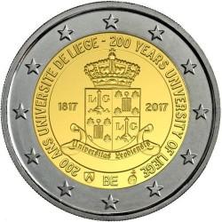 BELGICA 2 EUROS 2017 UNIVERSIDAD DE LIEJA SC MONEDA CONMEMORATIVA EN ESTUCHE OFICIAL (COINCARD) Belgium euro coin
