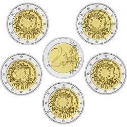 . .2 EUROS 2015 BANDERA EUROPEA ALEMANIA A+D+F+G+J SC Moneda