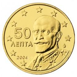 GRECIA 50 CENTIMOS 2004 PERSONAJE MONEDA DE LATON SC SIN CIRCULAR Greece 50 Cent coin