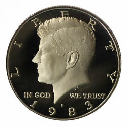 ESTADOS UNIDOS 1/2 DOLAR 1983 S KENNEDY NICKEL PROOF HALF DOLLAR