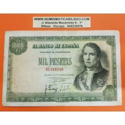 ESPAÑA 1000 PESETAS 1949 MARQUES DE SANTILLAN y CUADRO DE GOYA SIN SERIE 05189100 Pick 138 BILLETE MBC Spain banknote