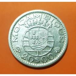 .MZAMBIQUE 20 ESCUDOS 1960 PLATA SC SILVER MOCAMBIQUE PORTUGAL