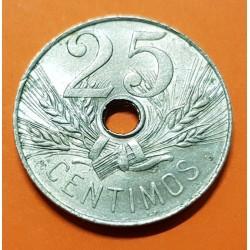 ..ESPAÑA 25 CENTIMOS 1925 PC.S. BARCO SIN CIRCULAR LUJO 3 @RARA@