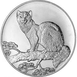 RUSIA 3 RUBLOS 1995 MARTA CIBELINA (SABLE) KM.473 MONEDA DE PLATA SC 1 ONZA OZ Russia 3 Roubles 0,925 Milésimas