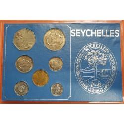 SEYCHELLES ESTUCHE OFICIAL 1972 ISABEL II 7 MONEDAS 1+5+10+25 CENTIMOS y 1/2+1+5 RUPIAS SC @RARO@ KMS SET