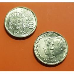 ESPAÑA 500 PESETAS 1998 REY JUAN CARLOS I y SOFIA KM.924 MONEDA DE LATON SC SIN CIRCULAR @PROCEDE DE CARTUCHO FNMT@
