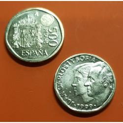 ESPAÑA 500 PESETAS 1999 REY JUAN CARLOS I y SOFIA KM.924 MONEDA DE LATON SC SIN CIRCULAR @PROCEDE DE CARTUCHO FNMT@