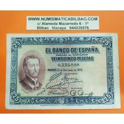 ESPAÑA 25 PESETAS 1926 SAN FRANCISCO JAVIER Sin Serie 6335888 Pick 71 BILLETE MBC- @RARO@ Spain banknote